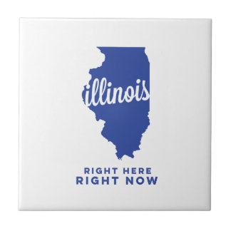 illinois | right here, right now | blue small square tile