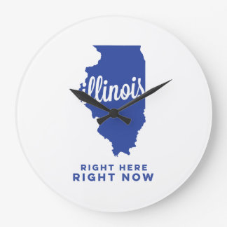 illinois | right here, right now | blue wallclock