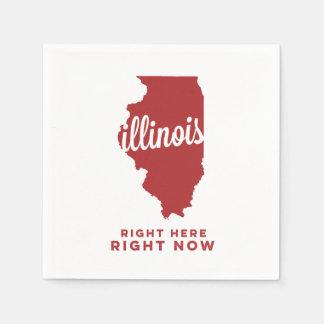 illinois | right here, right now | crimson disposable serviette