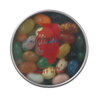 illinois | right here, right now | crimson jelly belly tins