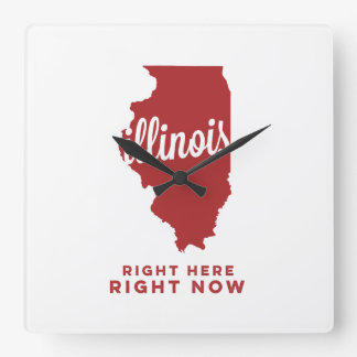 illinois | right here, right now | crimson wall clock