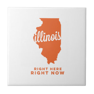illinois | right here, right now | orange small square tile