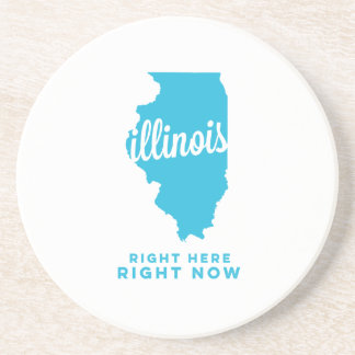 illinois | right here, right now | sky blue drink coaster