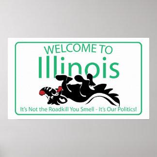 Illinois Road Sign Print
