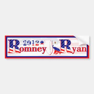 Illinois Romney and Ryan 2012 Bumper Sticker 2