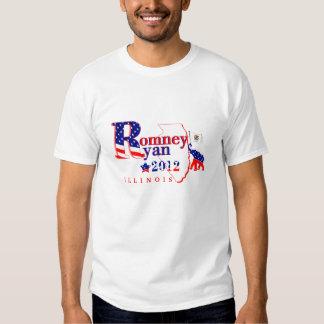 Illinois Romney and Ryan 2012 Tee Shirt 2