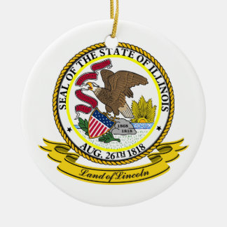 Illinois Seal Christmas Ornament