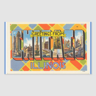 Illinois, Sheet of 4 Chicago stickers