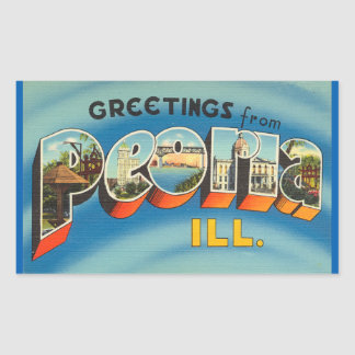 Illinois, Sheet of 4 Peoria stickers