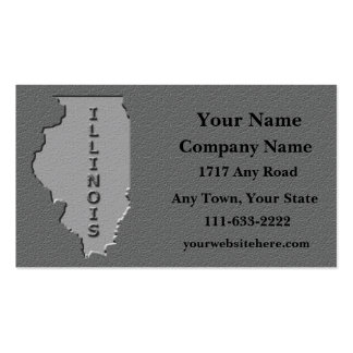 Illinois State Business card   carved stone look