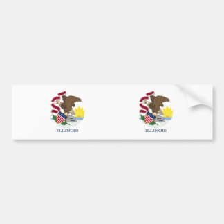 Illinois State flag Bumper Sticker