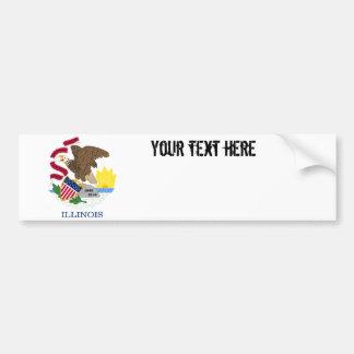 Illinois State Flag Bumper Sticker