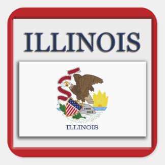 Illinois State Flag Design Sticker