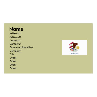 Illinois State Flag Pack Of Standard Business Cards