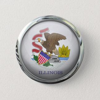 Illinois State Flag Round Glass Ball 6 Cm Round Badge