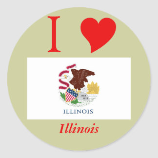 Illinois State Flag Stickers