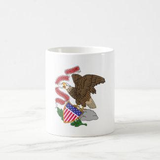 Illinois state flag usa united america symbol coffee mug