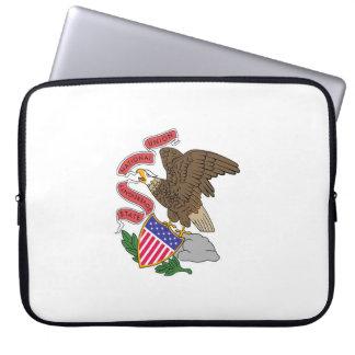 Illinois state flag usa united america symbol laptop sleeve