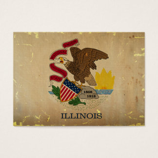 Illinois State Flag VINTAGE.png Business Card