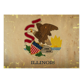 Illinois State Flag VINTAGE.png Pack Of Chubby Business Cards
