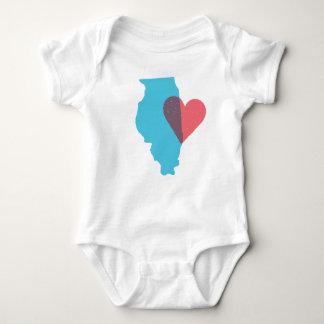 Illinois State Love Baby Shirt