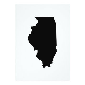 Illinois State Outline 13 Cm X 18 Cm Invitation Card