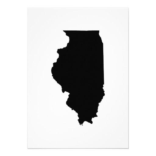 Illinois State Outline Custom Announcement