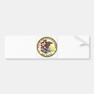 Illinois State Seal Bumper Sticker