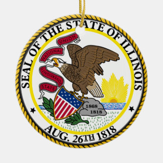 Illinois State Seal Christmas Ornament