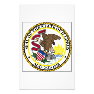 Illinois State Seal Personalized Stationery