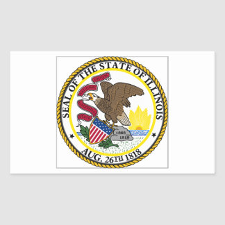 Illinois State Seal Rectangle Stickers