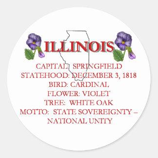 Illinois State Symbols Sticker