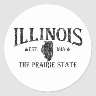 Illinois Round Stickers