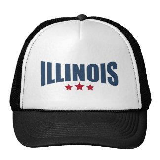 Illinois Three Stars Design Trucker Hat