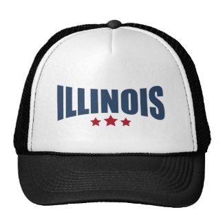 Illinois Three Stars Design Cap