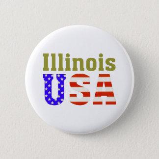 Illinois USA! 6 Cm Round Badge