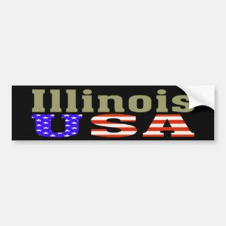 Illinois USA! Bumper Sticker