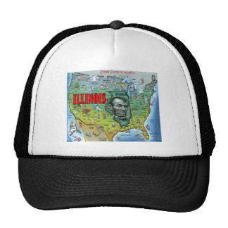 Illinois USA Map Cap