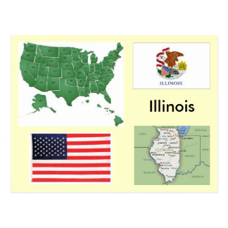 Illinois, USA Postcard