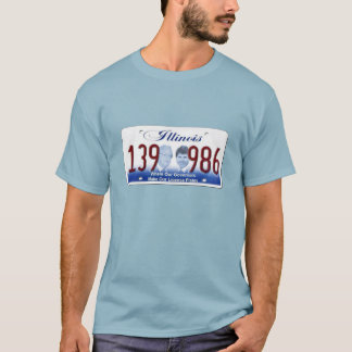 Illinois - Where our Governors Make Our Lic Plates T-Shirt