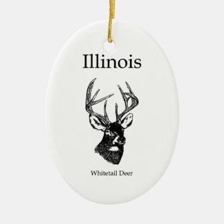 Illinois White Tail Deer Christmas Ornament