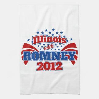 Illinois with Romney 2012 Tea Towel