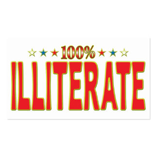 Illiterate Star Tag Pack Of Standard Business Cards
