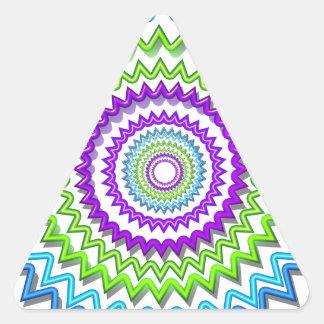 Illuminate BlueStar Chakra - Purple at Heart Triangle Sticker