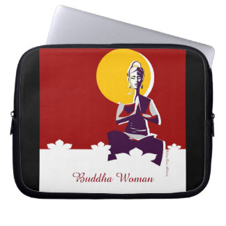 Illuminate woman or Yogini, with full 'moon mind' Laptop Sleeve