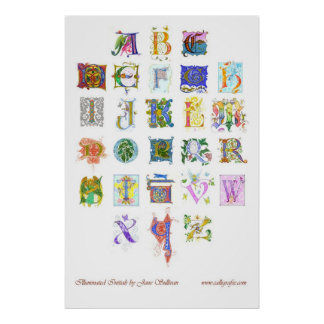 illuminated alphabet poster