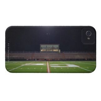 Illuminated American football field at night iPhone 4 Case-Mate Cases