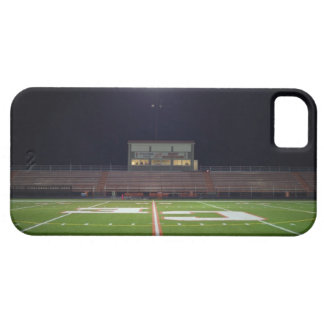 Illuminated American football field at night iPhone 5 Cases