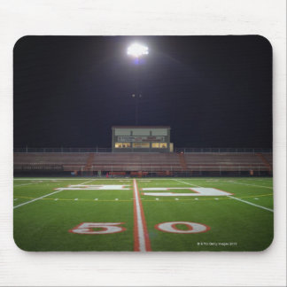 Illuminated American football field at night Mouse Mat