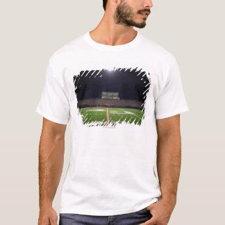 Illuminated American football field at night T-Shirt